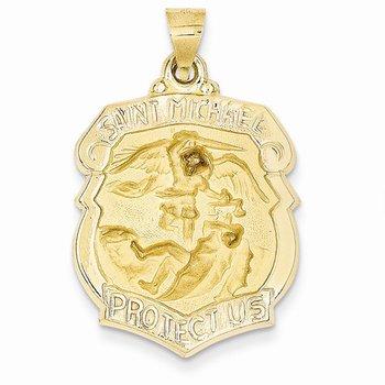 14k St Michael Badge Medal