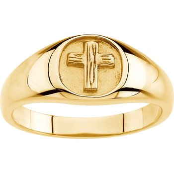 Rugged Cross Chastity Ring with Box