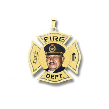 Large Fire Dept. Badge with picture (Different States Available)