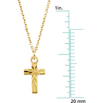 Children's Cross Pendant On Chain