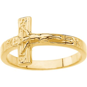 Crucifix Chastity Ring with Box - Sizes 4-8