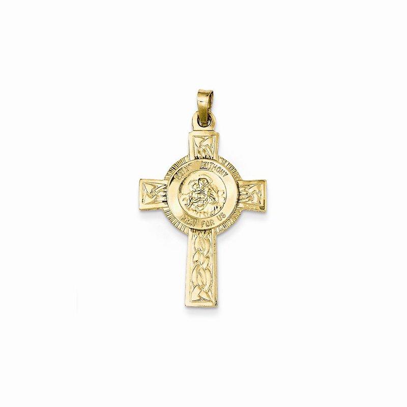 Religious Jewelry 14k Yellow Gold St Anthony Cross