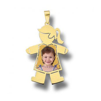 Large Baby Girl Pendant with Full Body Photo