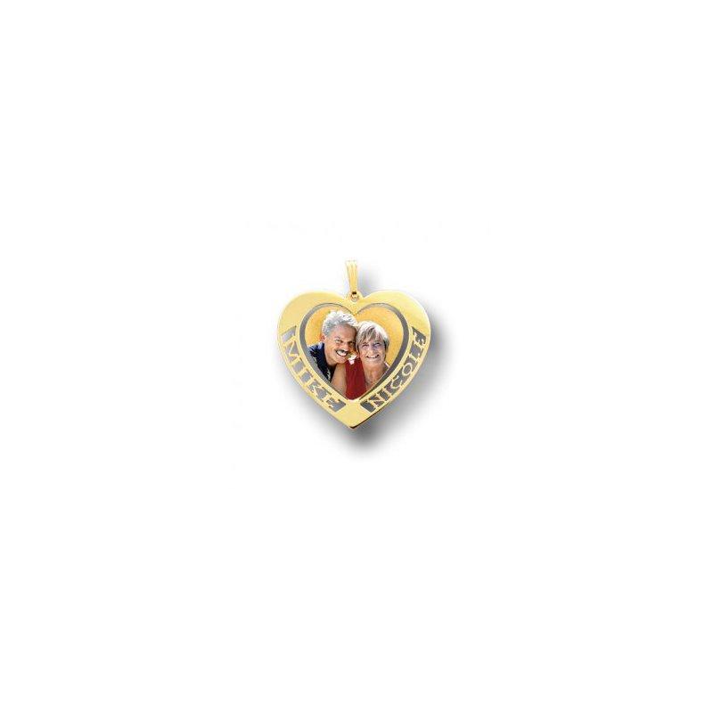 Photo Pendants Double Name Heart Photo Pendant
