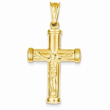 14k Yellow Gold Cross with Crucifix