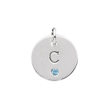 Engravable Mini Disc Pendant Mounting Sterling Silver