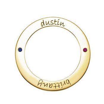 Engravable Forever Loop 14k Yellow Gold