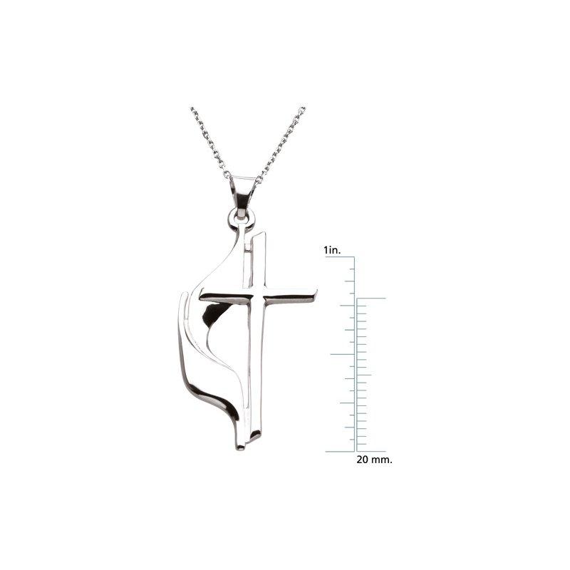 Religious Jewelry Methodist Cross Pendant