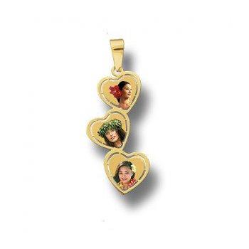 Three Heart Multi Heart Pendant