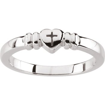 Heart with Cross Ring