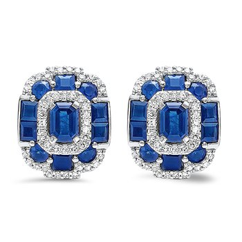 Radiance in Sapphire Earrings