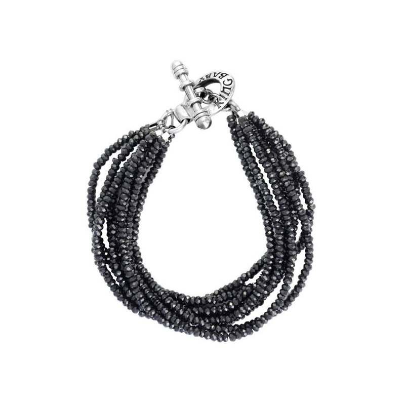 King Baby Eight Strand Spinel Bead Bracelet With Mini Toggle Clasp