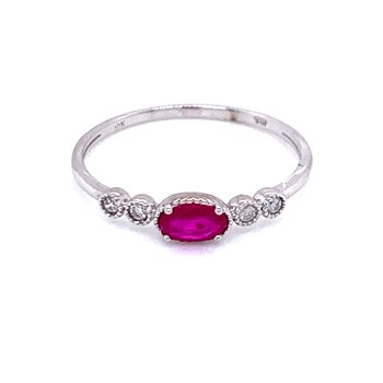 Sideways Ruby Ring