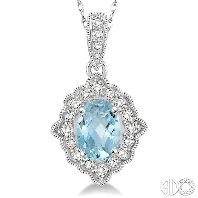 Bryan Beauties Aquamarine and Diamond Pendant