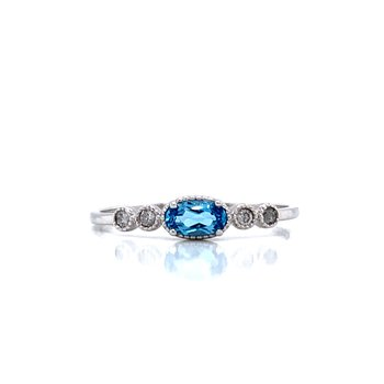 Sideways Blue Topaz Ring