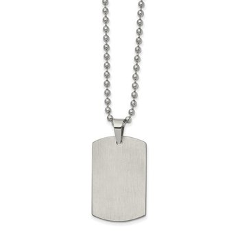 Dog Tag in Stainless Steel with Chain