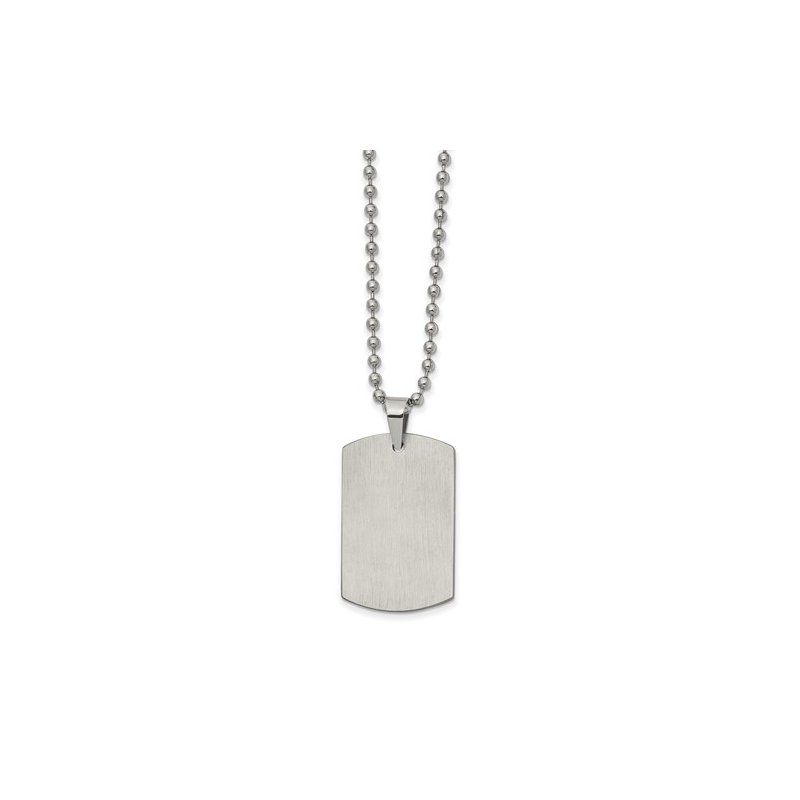 Bryan Beauties Dog Tag in Stainless Steel with Chain