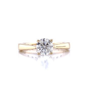 Happy Diamond Ring - 14k Yellow Gold