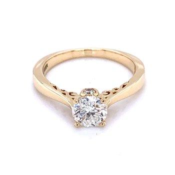 Happy Diamond Ring - 14k Yellow Gold