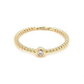 Bezel Set Diamond Ring in 14ky