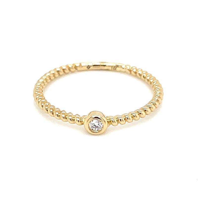 Bryan Beauties Bezel Set Diamond Ring in 14ky