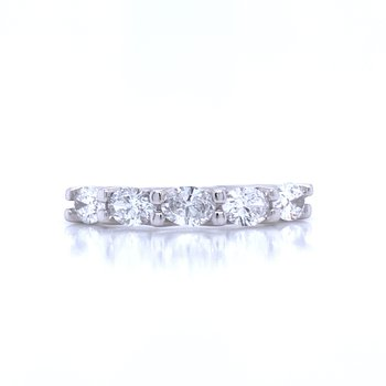 Oval Diamond Wedding Band
