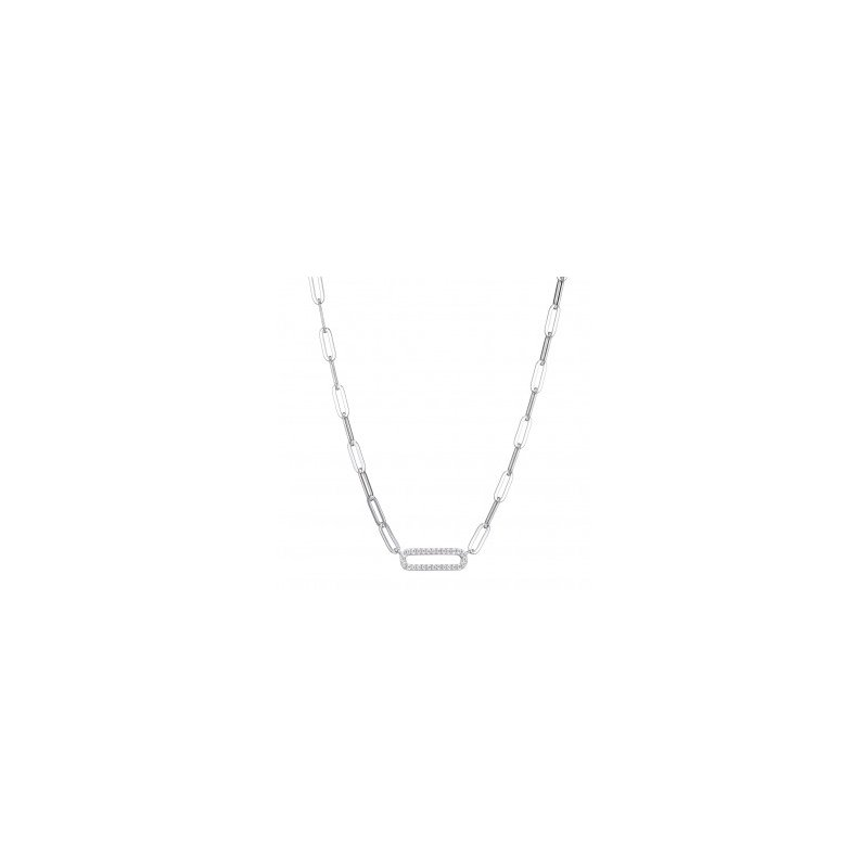 Charles Garnier Paperclip Necklace with Sparkle