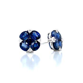 Striking Blue Sapphire Earrings