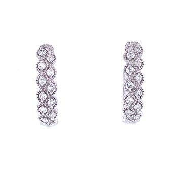 Stepping Stones Diamond Hoops 1/3ctw