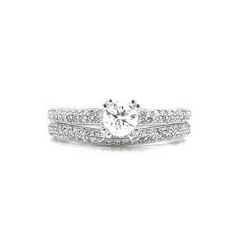 Resplendent Diamond Wedding Set