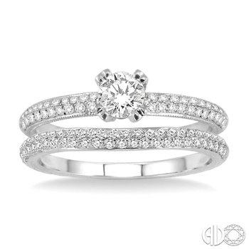 Resplendent Diamond Wedding Set
