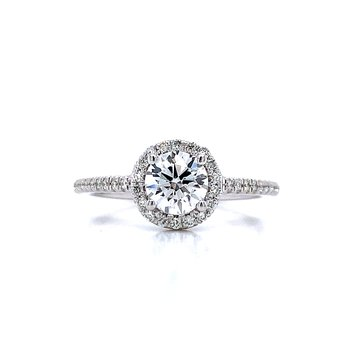 1ctw Diamond Halo Engagement Ring