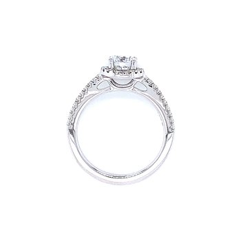 1ctw Diamond Halo Engagement Ring