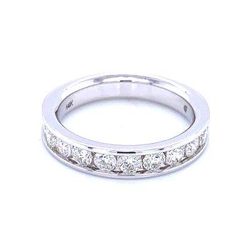 Channel Set Diamond Wedding Band 14kw-1ctw