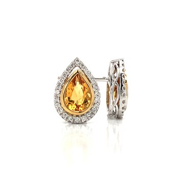 Citrine Pear Shaped Earrings