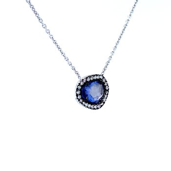 Slice of Sapphire Necklace