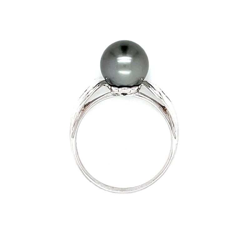 Bryan Beauties Black Pearl & Diamond Ring