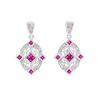 Ruby Abounds in the Oval Earrings