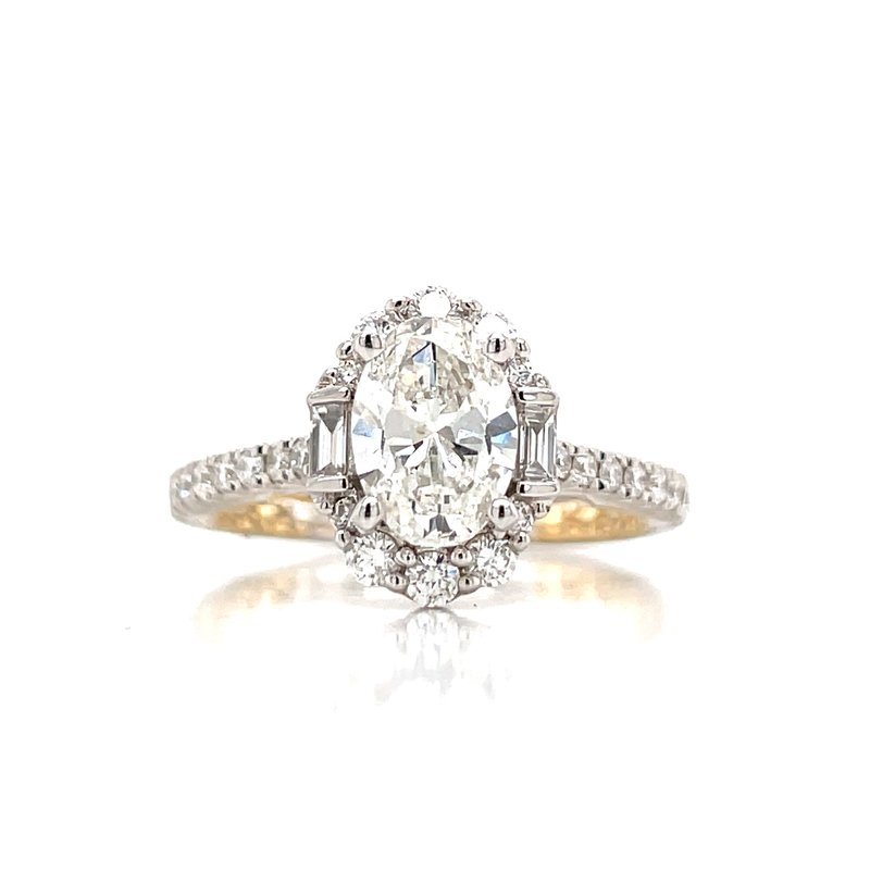 Bryan Beauties  Exceedingly Beautiful Oval Halo Engagement Ring