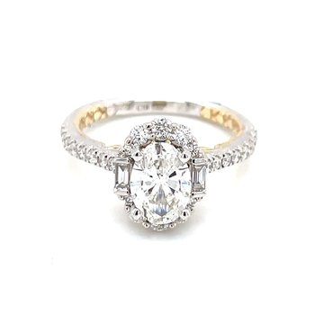 Exceedingly Beautiful Oval Halo Engagement Ring