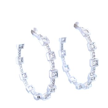 Hollywood Squares Diamond Hoops