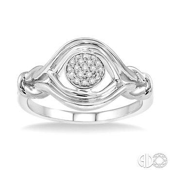Silver Love Knot Diamond Ring