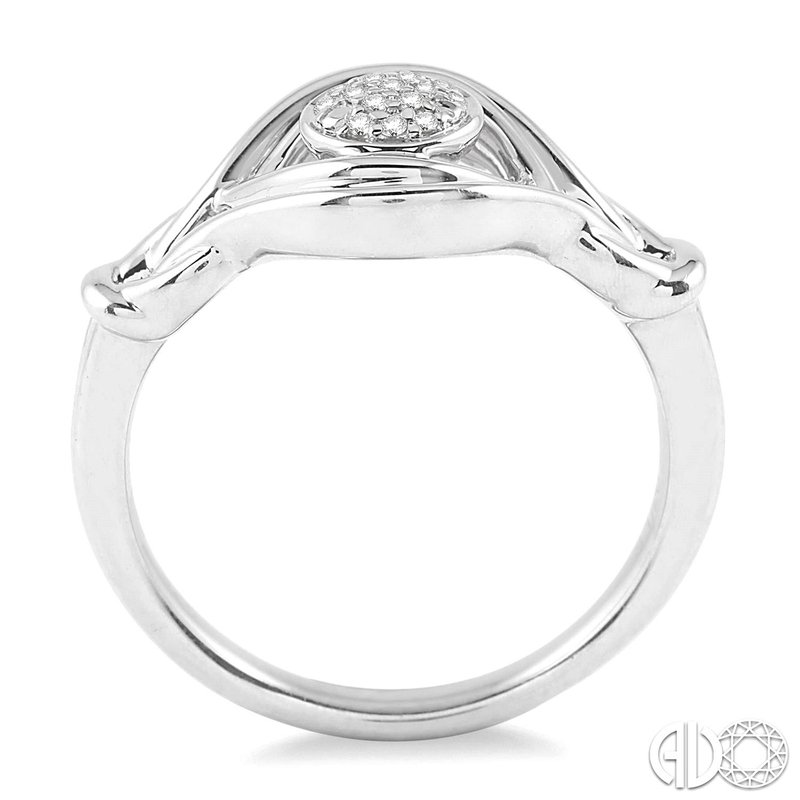 Bryan Beauties Silver Love Knot Diamond Ring