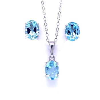 Blue Topaz Fashion Gift Set