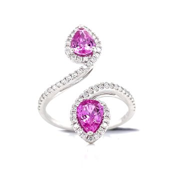 Vibrant Pink Sapphire Sweeping Bypass