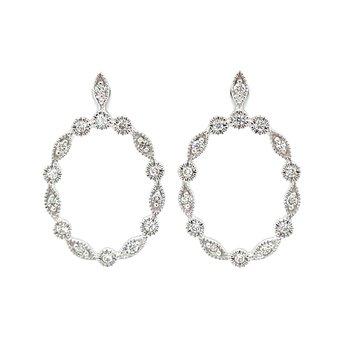 Dazzling Diamond Frame OvalEarrings