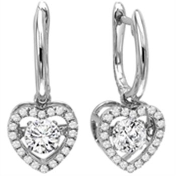 Heart Shaped Rhythm of Love Earrings