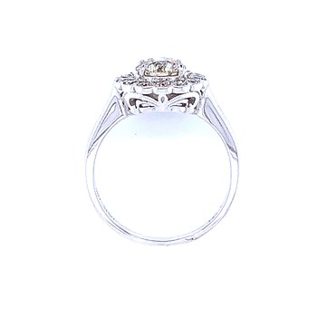 Diamond Halo Fashion Ring