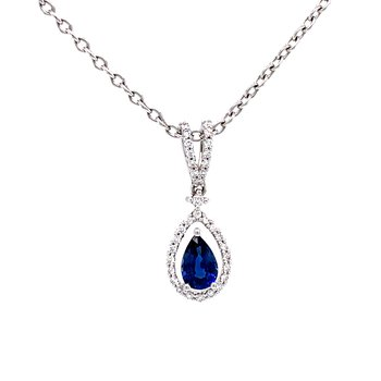 Pear Shaped Pendant Pearfection-Sapphire