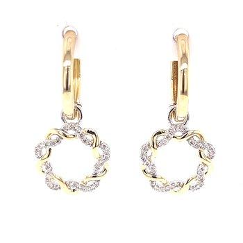 14ktt Gold & Diamond Twist Earrings  1/5ctw